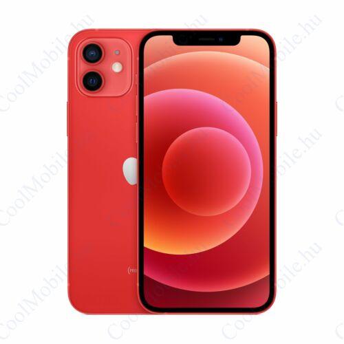 Apple Iphone 12 256GB piros, kártyafüggetlen, Gyártói garancia