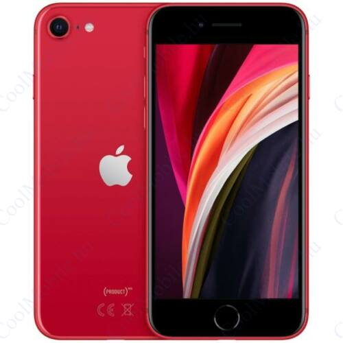 Apple Iphone SE 2020 128GB piros, kártyafüggetlen, Gyártói garancia