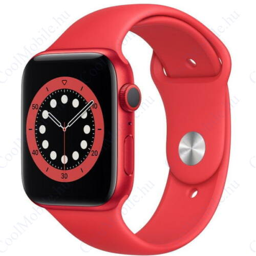 Apple Watch Series 6 GPS – 44 mm-es (PRODUCT) RED alumíniumtok, piros sportszíj