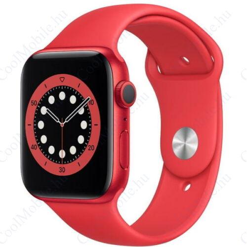 Apple Watch Series 6 GPS – 44 mm-es (PRODUCT) RED alumíniumtok, piros sportszíj