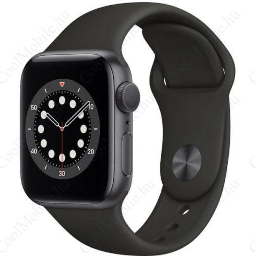Apple Watch Series 6 GPS 44mm sztroszürke alumíniumtok, fekete sportszíj