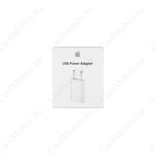 Apple hálózati töltő adapter, MGN13ZM/A, 5W, fehér