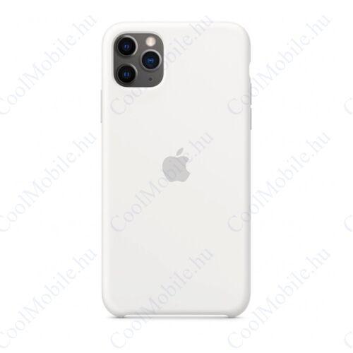 Apple iPhone 11 Pro Max gyári szilikon tok, fehér, MWYX2ZM/A