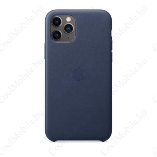 Apple iPhone 11 Pro gyári bőr tok, éjkék, MWYG2ZM/A