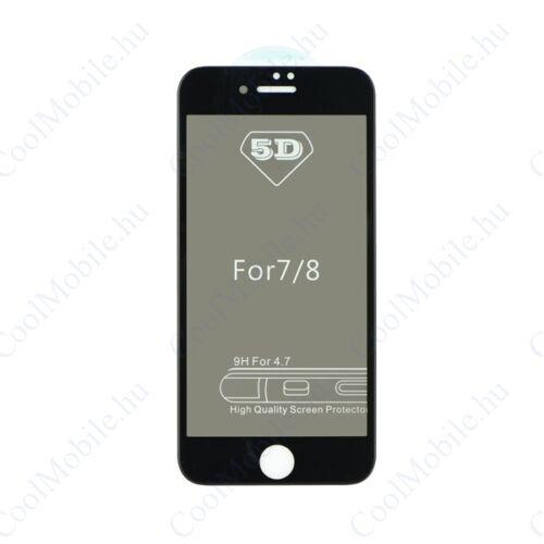 Apple iPhone 7/8, 5D Full Glue Privacy hajlított tempered glass kijelzővédő üvegfólia, fekete