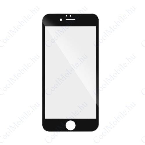 Apple iPhone 7 Plus/8 Plus, 5D Full Glue hajlított tempered glass kijelzővédő üvegfólia, fekete