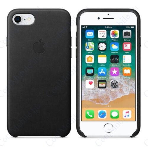 Apple iPhone 8/7 gyári bőr tok, fekete, MQH92ZM/A