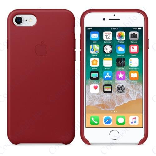 Apple iPhone 8/7 gyári bőr tok, piros (PRODUCT)RED, MQHA2ZM/A