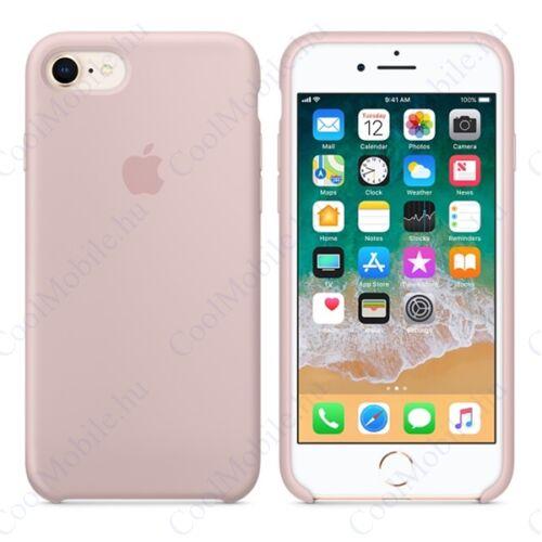 Apple iPhone 8/7 gyári szilikon tok, rózsaszín homok, MQGQ2ZM/A