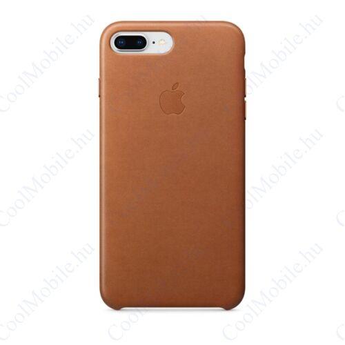 Apple iPhone 8 Plus/7 Plus gyári bőr tok, vörösesbarna, MQHK2