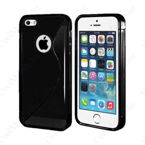 Apple iPhone SE/5/5S szilikon tok S-line, fekete