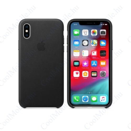 Apple iPhone XS gyári bőr tok, fekete, MRWM2ZM/A