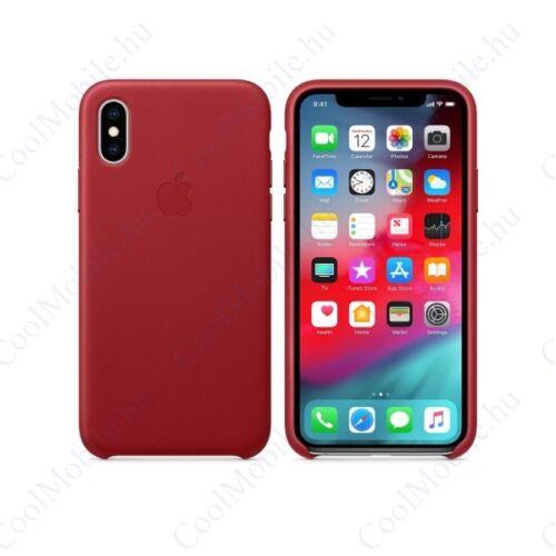 Apple iPhone XS gyári bőr tok, piros (PRODUCT)RED, MRWK2ZM/A