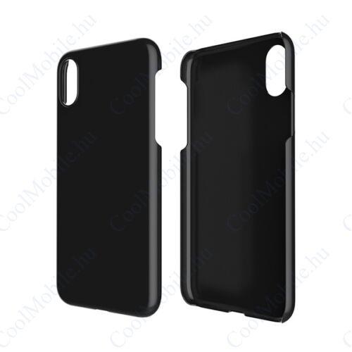 Apple iPhone Xs Max, Műanyag hátlap tok, fekete
