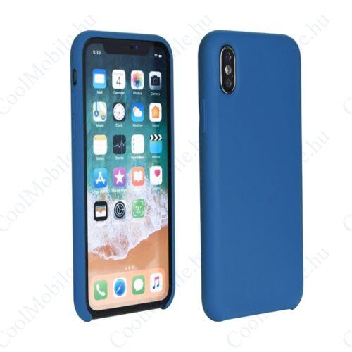Apple iPhone Xs Max, Szilikon Soft hátlap tok, Kék