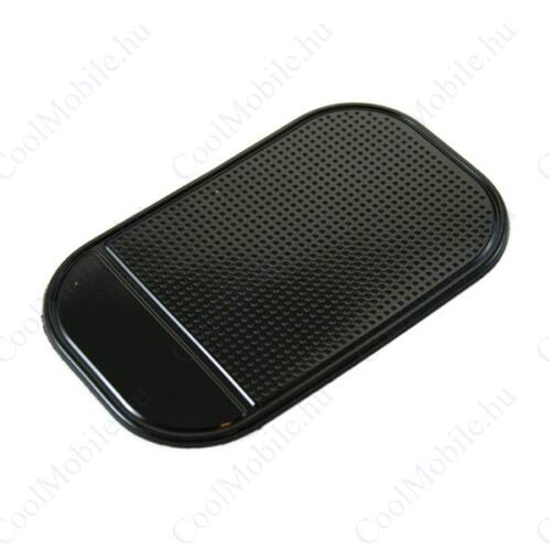 Autós tartó mobiltelefonokhoz, gumi csúszásgátló, fekete, 14,5 x 8,6 cm, nanopad