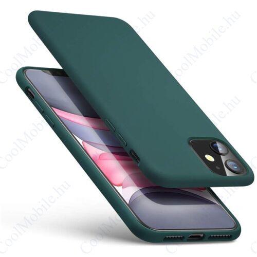 ESR Yippee szilikon hátlap tok Apple iPhone 11, Éjzöld