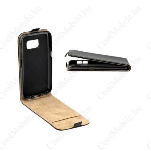 Flip tok szilikon belsővel, Samsung G973 Galaxy S10, fekete