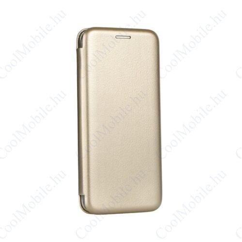 Forcell Elegance oldalra nyíló hátlap tok Huawei Mate 20, arany