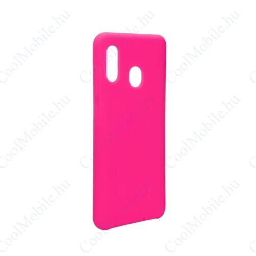 Forcell Szilikon hátlap tok, Samsung A305 Galaxy A30, rózsaszín
