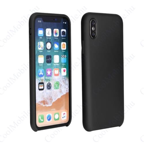 Forcell Szilikon hátlap tok Samsung J415 Galaxy J4+, fekete