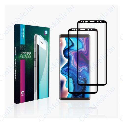 Goldspin Samsung A305/A505 Galaxy A30/A50 Nano Silk teljes kijelzős üvegfólia, fekete