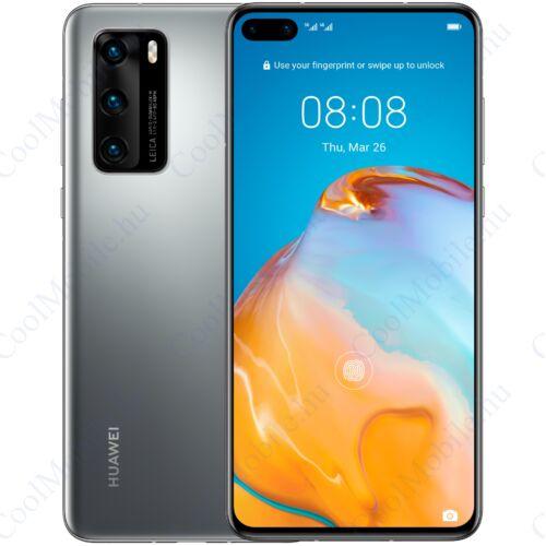 Huawei P40 5G 128GB 8GB Dual ezüst, Gyártói garancia