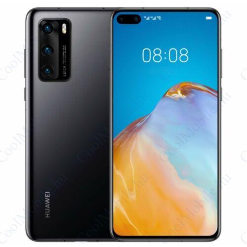 Huawei P40 5G 128GB 8GB Dual fekete, Gyártói garancia