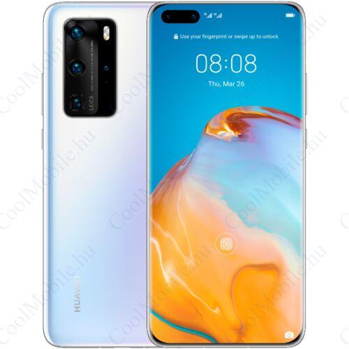 Huawei P40 5G 128GB 8GB Dual jégfehér, Gyártói garancia