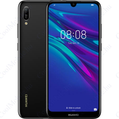 Huawei Y6 2019 32GB Dual, éjfekete, gyártói garancia