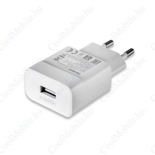 Huawei HW-050100E01W hálozati töltő adapter, 5V/1A, fehér, gyári, ECO csomagolásban