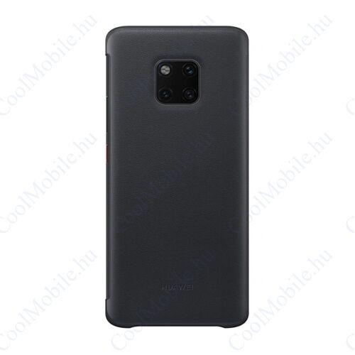 Huawei Mate 20 Pro Smart View Cover, gyári flip tok, fekete