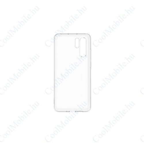 Huawei P30 Pro Silicone Case, gyári szilikon tok, átlátszó