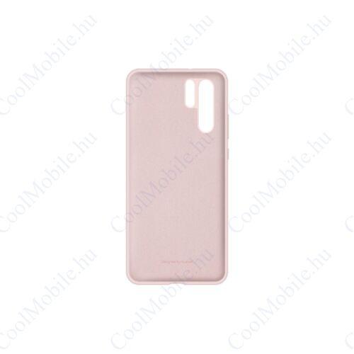 Huawei P30 Pro Silicon Case, gyári szilikon tok, rózsaszín