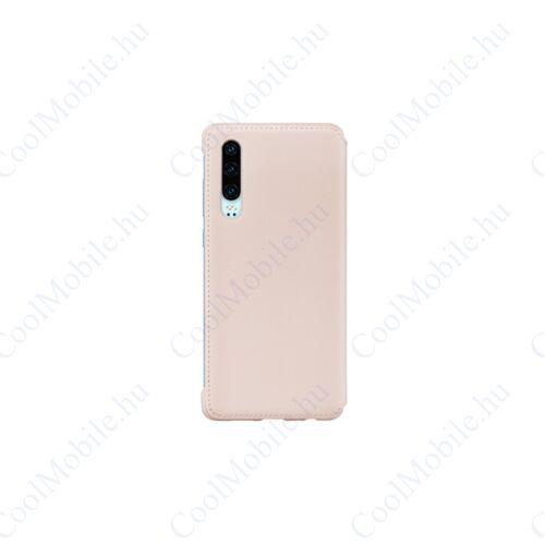 Huawei P30 Wallet Cover, gyári flip tok, rózsaszín