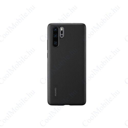 Huawei P30 PU Case, gyári tok, fekete