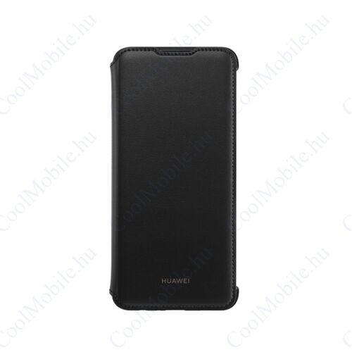 Huawei P smart (2019) Flip Cover, gyári flip tok, fekete