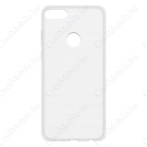 Huawei Y7 Prime 2018 Protective Case, gyári tok, átlátszó