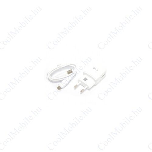 LG MCS-H05ED hálozati töltő adapter + EAD63849204 Type-C kábel, 5V/1,8A, fehér, gyári, ECO csomagolásban