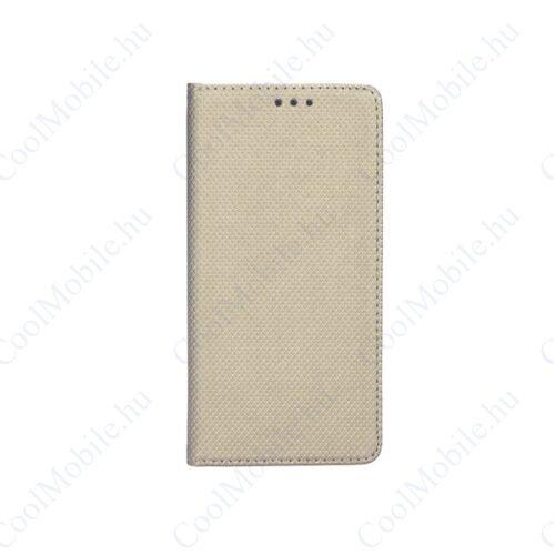 Magnet Huawei Mate 20 Lite mágneses flip tok, arany