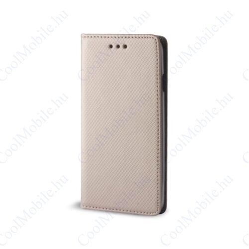 Magnet Nokia 8.1 Plus mágneses flip tok, arany