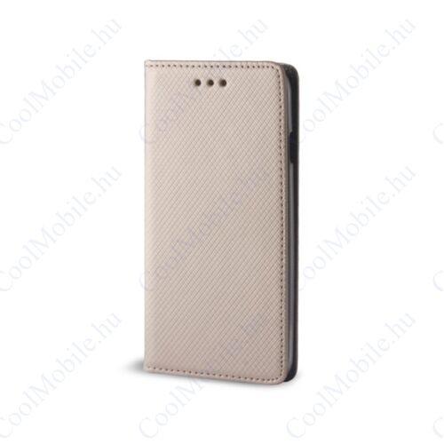 Magnet Samsung Galaxy A5 (2017) mágneses flip tok, arany