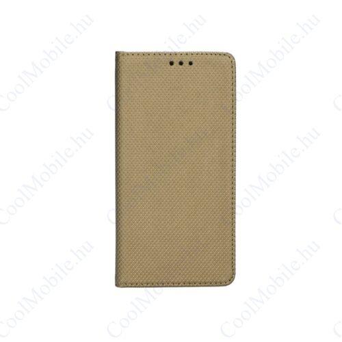 Magnet Samsung Galaxy J3 (2016) mágneses flip tok, arany