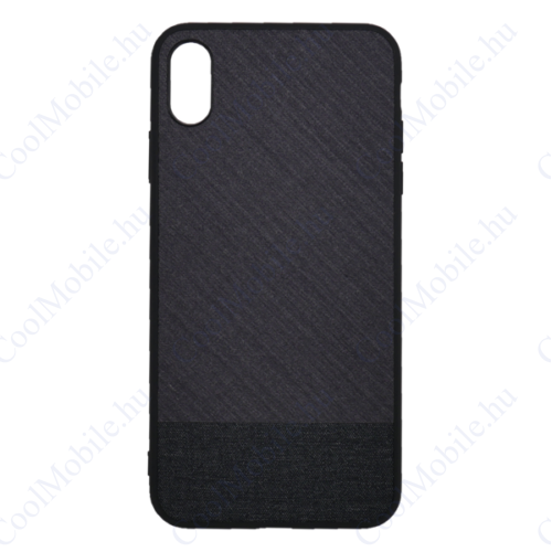 Mofi Mintás Szövet hátlap tok Mi A2 Lite/ Redmi 6 Pro, fekete