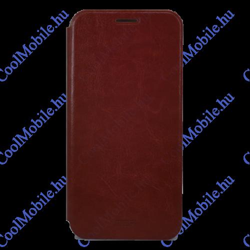 Mofi PU Bőr flip tok Huawei P30, barna