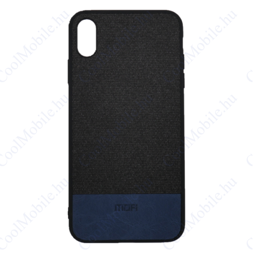 Mofi Szövet PU bőr hátlap tok Mi A2 Lite/ Redmi 6 Pro, fekete
