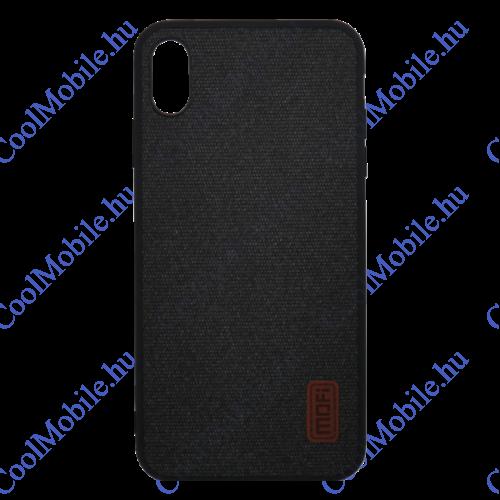 Mofi Szövet hátlap tok Samsung A750 Galaxy A7 2018, fekete