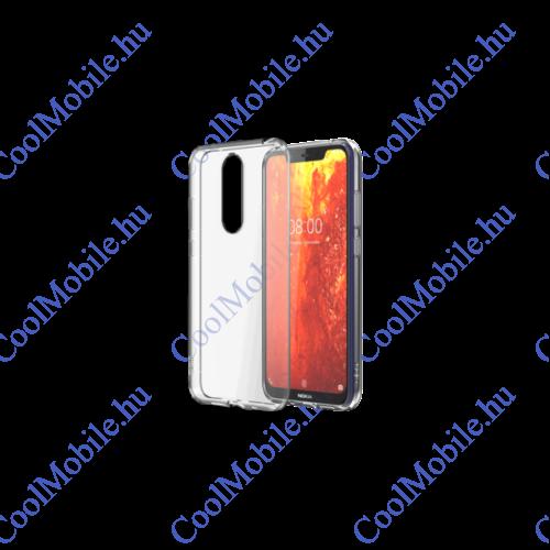 Nokia 8.1 gyári hátlap tok, átlátszó, CC-181