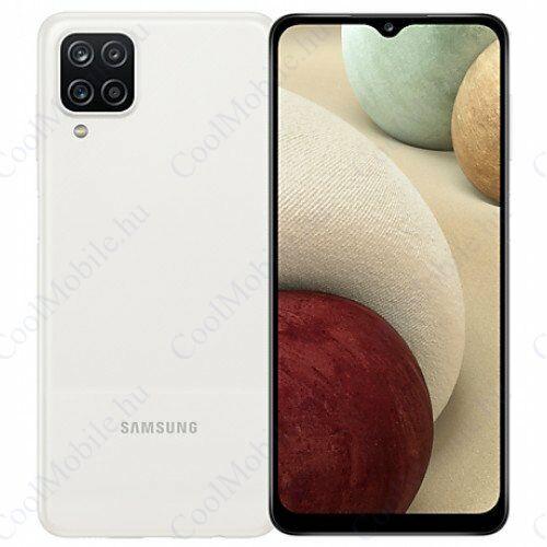 Samsung Galaxy A12 64GB 4GB RAM Dual, fehér, Gyártói garancia
