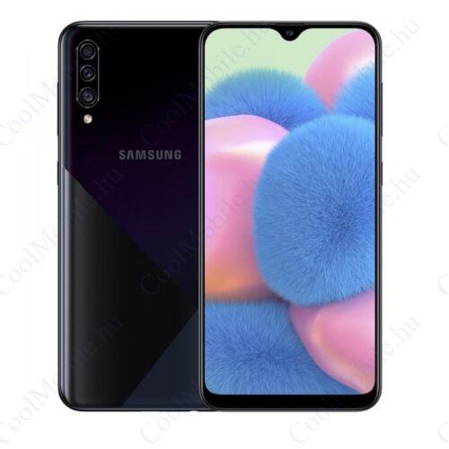 Samsung Galaxy A30s 128GB 4GB Dual, fekete, 1 év Gyártói garancia